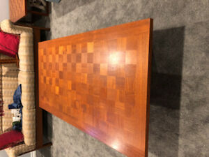 Teak Checkerboard Coffee Table