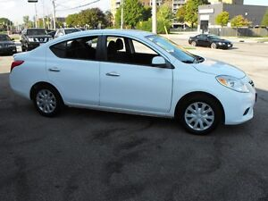 2012 NISSAN VERSA SV SEDAN  LOADED  AUTO  NO ACCIDENTS  FINANCE