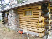 Log Home Restorations, Repairs, Refinishing