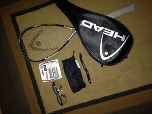 Squash racquet and accessories