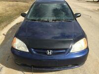 2001 Honda Civic EX Coupe LOW KMS VERY RELIABLE