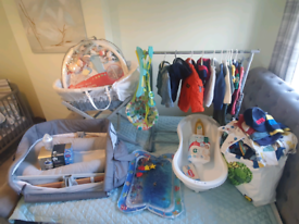 BESIDE ME COT, BATH, KIDS, COTHES, COATS, TOYS,MOSES BASKET, BABY GYM