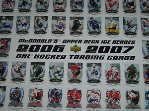 McDonalds Hockey posters for 2006-2007 Cambridge Kitchener Area image 2