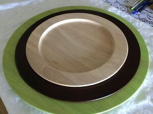 LA ROSEE 3 WOOD SERVING TRAYS / PLATTER. NEW. FROM THAILAND