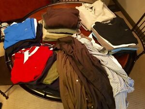 Men's shirts, sweaters adress shirts large and extra large $150 Edmonton Edmonton Area image 1