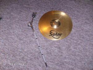 $15. Sabian Solar cymbal and $10. cymbal arm