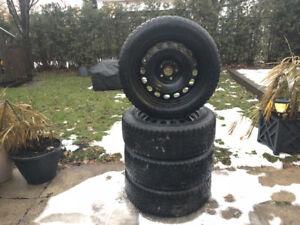 4 pneus d'hiver + jantes 205/55r16