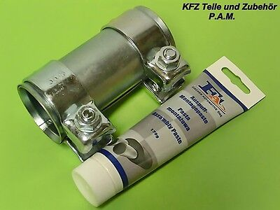 Exhaust Clamp 1 13-16-2x3 1-2in Pipe Coupling Clamp Double Clamp Assembly Paste