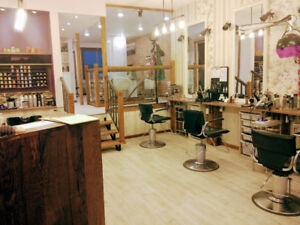 Building with running hair and spa salon business for sale