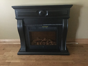 Black Electric Fire Place
