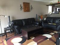 Sofa , loveseat , side tables and coffee table for $200