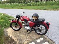 BSA C15 250 cc Classic Motorcycle 1961