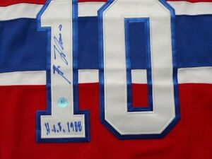 Guy Lafleur Montreal Canadiens signed jersey hologram Cambridge Kitchener Area image 2