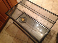 Large glass cage