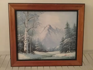"""Set of 2 Landscape Oil  paintings 7 1/2"""" x 9"""" signed"""