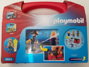 Playmobil - Fire Rescue Carry Case (5651) BRAND NEW