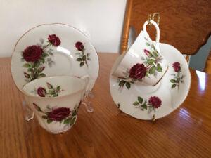 Royal Albert, Royal Vale and Rosina Bone China Tea Cups