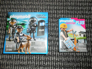 BRAND NEW in box: playmobil police and construction set