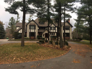 South Caledon - one of a kind 10 acre luxury estate with lake!!