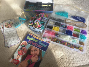 TWO RAINBOW LOOM KITS W/ TONS OF BANDS