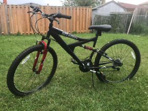 Supercycle Nitrous Full Suspension Mountain Bike 26-in with lock