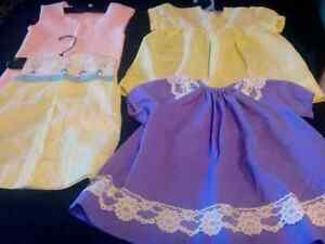 Baby dresses and knit leggings