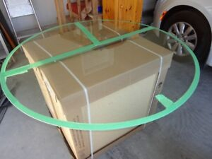 48 Inch Tempered Glass Table Top With Beveled Edge