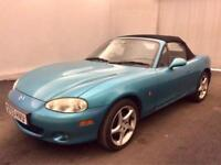 MAZDA MX-5 1.8i SPORT CONVERTIBLE >SALE PRICE OFFER< F S H..LEATHER..FULL MOT
