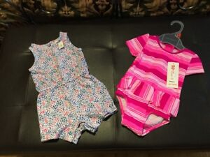 New 50+ UPF Swimsuit and romper size 6-12 months