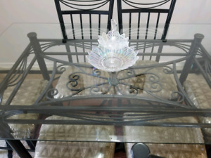 Glass table with 6 chair