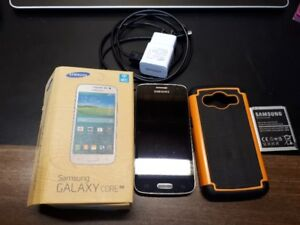 Samsung Galaxy Core LTE with Charger, Case and extra Battery
