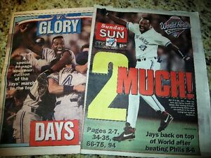 """BLUE JAYS World Series 1993  """"Read all about it............""""!"""