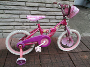 DISNEY PRINCESS SHIMMER BICYCLE WITH TRAINING WHEELS