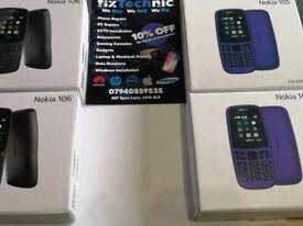 Brand New Nokia 105, 106 dual Sim unlocked