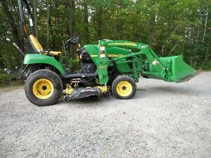 JOHN DEERE TRACTOR/LOADER/LAWNMOWER