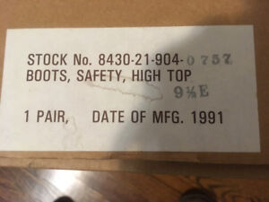 New Pair Black Safety High Top Boots