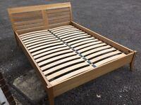 JOHN LEWIS Kingsize oak bed