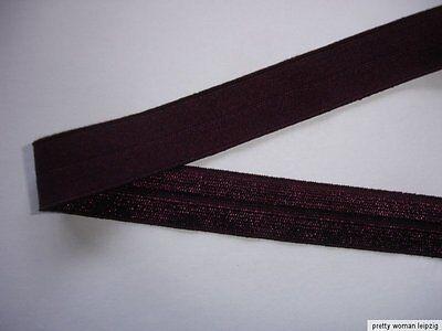 10m Gummiband 0,28€/m lilabraun 15mm breit V52
