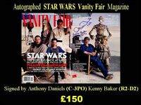 STAR WARS Autographed VANITY FAIR Magazine