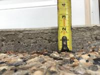 Sunken driveway, sidewalk or garage pad?