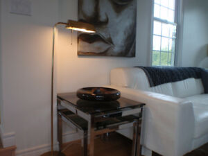 Vintage Modern Brass Floor Lamp