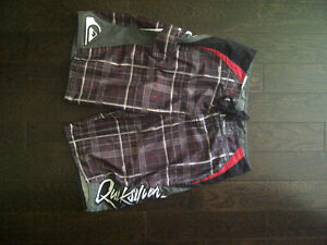 Quiksilver Mens Plaid Shorts Size Small