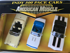Ertl 1/43  scale Indy 500 pace cars diecast models 3 car set