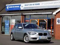 2014 14 BMW 1 SERIES 116D EFFICIENTDYNAMICS BUSINESS 5DR * LEATHER NAV * DIESE