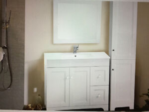 WHITE BATHROOM VANITY NEW IN BOX