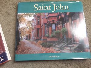 Saint John photo book by Rob Roy, and Maritime flowers book.