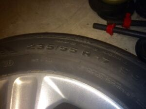 235/55/R17 - OEM CONTINENTAL All-Season TIRES AND RIMS  Cambridge Kitchener Area image 2