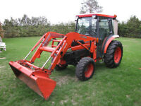 Kubota L-3430 HST with cab and loader, loaded and low hrs