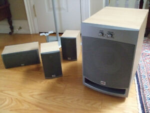 PSB Surround Speakers and B-Tech Stands