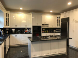 Kitchen cabinets with granite counters